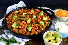 30 Minute Black Bean Corn and Rice Skillet - Lord Byron's Kitchen Black Bean Corn, Black Beans And Rice, Healthy Black Bean Recipes, Vegetarian Recipes, Rice And Beans Recipe, Candida Diet, Veggie Dishes, Cheap Meals, Plant Based Recipes