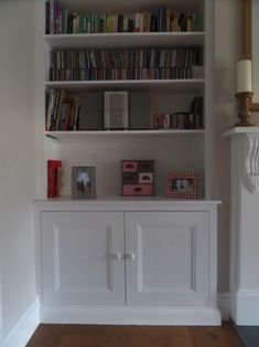 Image result for alcove shelving Alcove Shelving, Alcove Cupboards, Cupboard Shelves, Alcove Ideas Living Room, Room Ideas, Chimney Breast Shelving, Cosy Lounge, Sitting Room Decor, Living Room Colors