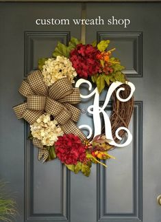 Fall Wreaths for Front DoorWreaths for FallAutumn WreathsGrapevaine Fall WreathsHalloween DecorationOrange Rusty WreathsThanksgiving by CustomWreathShop Diy Fall Wreath, Autumn Wreaths, Wreath Crafts, Spring Wreaths, Diy Crafts, Wreath Ideas, Fall Crafts, Christmas Wreaths For Front Door, Holiday Wreaths