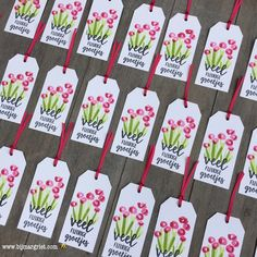 Stampin' Up!, SU, Bloemen Zeggen Meer, Abstract Impressions, Springtime Impressions, tag, tags, label, labels