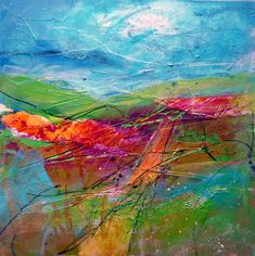 Blue remembered hills - Paintings of the Shropshire Landscape 'spirit of place'. Marie Allen