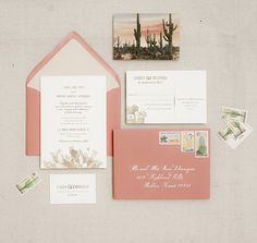 Obsessed with this vintage cactus invitation suite. Makes me wish we were having a desert wedding!