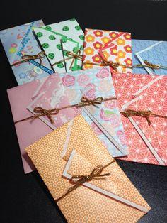 花うさぎのお茶時間:手作りのぽち袋の紹介\(^o^)/*