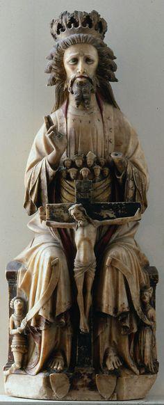 Bosom of Abraham Trinity (England, ca. 1420-50, Museum of Fine Arts, Boston).