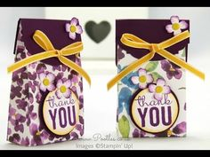 SpringWatch 2015 Painted Blooms Bag Tutorial | Stampin' Up! UK #1 Demonstrator Sam Donald