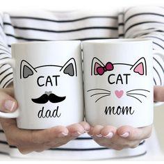Cat Mom, Cat Dad Mugs