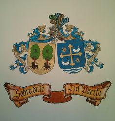 escudos heraldicos acolados de Sobradillo y Del Puerto