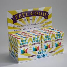 Food coloring with, No synthetic dyes or corn syrup, gluten free, Sounds pretty good to me!