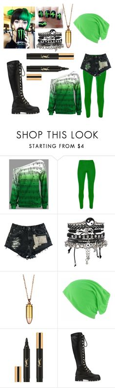"""""""green"""" by halsey-iero ❤ liked on Polyvore featuring beauty, Urban Eclectics, ASOS, Akillis, Yves Saint Laurent and Altuzarra"""