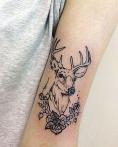 Deer tattoo- ciervo tatuaje- by Ana Maturana