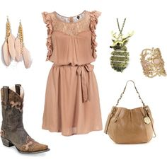 I wish every time I created an outfit on ployvore it would magically appear in my closet. Anywho this is Country Blush <3