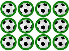 Printed with edible ink on an edible icing sheet Precut circles, approx diameter A wonderful way to add something extra to your football Soccer Birthday Parties, Soccer Party, Sports Party, Football Themes, Football Soccer, Soccer Cupcakes, Football Birthday Cake, Cupcake Toppers Free, Cupcake Party
