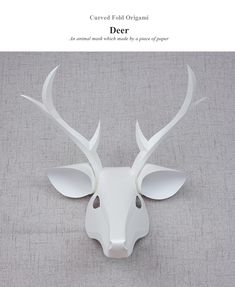 Curved Fold Origami, Deer mask by Maggie Yong Tze Shean.