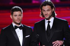"""Check out these sexy shots of """"Supernatural"""" stars Jensen Ackles and Jared Padalecki from the 2014 Critics Choice Awards."""
