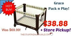 WOW! Get a Graco Pack N Play for only $38.88! Perfect for grandma's, traveling,  the beach, camping and so much more! FREE PICKUP TOO!  Click the link below to get all of the details ► http://www.thecouponingcouple.com/graco-pack-n-play-only-39-00-with-free-store-pickup/ #Coupons #Couponing #CouponCommunity  Visit us at http://www.thecouponingcouple.com for more great posts!
