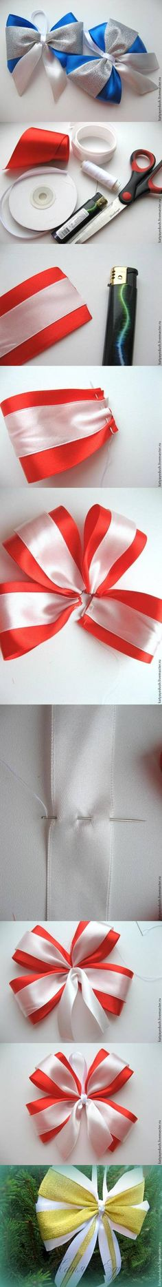 DIY Bow for Christmas Trees DIY Bow for Christmas Trees