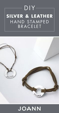 Always wanted to learn how to make your own jewelry? Check out this DIY Silver and Leather Hand Stamped Bracelet from JOANN to try your hand at creating personalized and meaningful accessories.