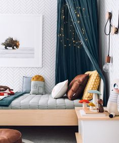 We all know how difficult it is to decorate a kids bedroom. A special place for any type of kid, this Shop The Look will get you all the kid's bedroom decor ide Cozy Bedroom, Bedroom Decor, Bedroom Lighting, Modern Bedroom, Wall Decor, Bedroom Lamps, Trendy Bedroom, Design Bedroom, Bedroom Chandeliers