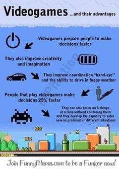 Videogames are bad for you? I think not.