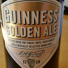More amber than golden. Not bad. - Drinking a Guinness Golden Ale by Guinness