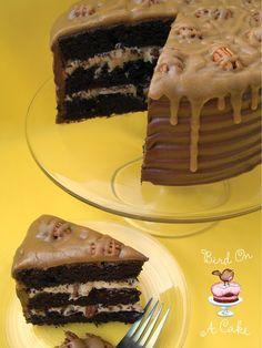 Caramel Pecan Chocolate Cake