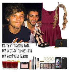 """Party in Thailand with my brother (Louis) and my boyfriend (Zayn)"" by jaynnelinsstyles ❤ liked on Polyvore"