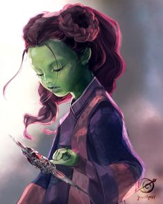 Baby Gamora by jewellpopp on Instagram
