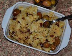 CAVOLFIORE  STUFATO con olive e pomodori secchi