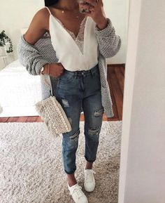 Casual clothes, casual outfits for teens, cool summer outfits, oufits casua Casual Outfits For Teens, Cool Summer Outfits, Classy Outfits, Spring Outfits, Casual Wear, Trendy Outfits, Casual Clothes, Cute Simple Outfits, Spring Ootd