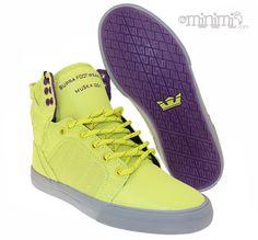 newest ff411 0c554 Supra Skytop - baskets enfant (youth) - Jaune Fluo et Gris LA nouvelle  Skytop Flashy de l été est arrivée!!!  skytop  jaunefluo  summer  ete   purple  kids   ...