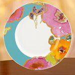 Floral Fusion Aqua Accent Plate