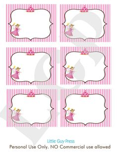 pinkalicious labels ...great for a candy table (think they are on Etsy ...)