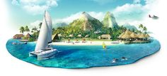 Islands mix by Pavel Birt, via Behance