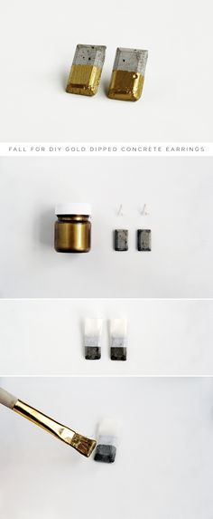 Gold Dipped Earring Tutorial