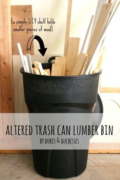 This is such a great idea to make sure your scraps of wood are organized!  You probably already have everything you need.  #ad