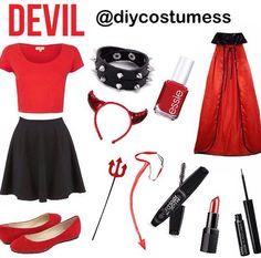 Diy devil Halloween costume
