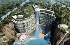 Algumas acomodações são uma atração turística. Esse é o caso do Hotel Songjiang, localizado em Xangai, na China Foto: Atkins