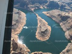 Aerial view of another Horseshoe Bend on the Colorado River near Page city - Arizona, USA