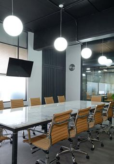 Really cool conference room lighting — the window helps of course