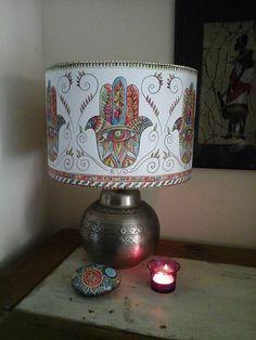 Fabric lampshadehamsa lampshadehamsa art by heARTofNatureStudio