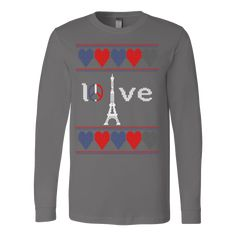 Peace and pray for paris ugly christmas sweater xmas