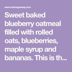 Sweet baked blueberry oatmeal filled with rolled oats, blueberries, maple syrup and bananas. This is the perfect make ahead breakfast. Oatmeal Blueberry Muffins Healthy, Healthy Muffins, Blue Berry Muffins, Breakfast Options, Make Ahead Breakfast, Breakfast Recipes, Vanilla Paste, Rolled Oats, Maple Syrup