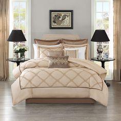 Bombay Oversized Luxury Teramo Ivory Comforter Set