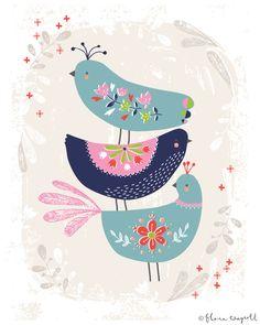 Folk Birds | Flora Waycott