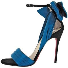 Christian Louboutin 'Vampanodo' Satin Bow Red Sole Sandal
