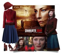 """Cate Blanchett - Charlotte Gray"" by danewhite ❤ liked on Polyvore featuring Chicwish, Jean-Louis Scherrer, Wilsons Leather, Kate Spade and contest"