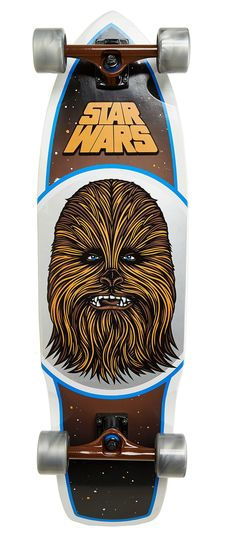 """Santa Cruz X Star Wars Chewbacca Complete Cruiser. """"GRAAAAAHHH..."""" Let your hair down on the Santa Cruz x Star Wars Chewbacca Complete Cruiser. An official collaboration between Santa Cruz and Lucasfilm, it features a full-coverage graphic or everyone's favorite wild-haired bounty hunter. http://zocko.it/LD95l"""