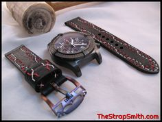 Customize! #Breitling #Customstraps #Leather #armcandy #watchstraps #handmade #TheStrapSmith