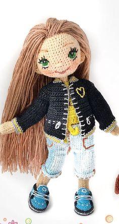 ✔️ New yarn Amigurumi Crochet Pattern Design Ideas for Winter Part 12 ; amigurumi for beginners Crochet Doll Dress, Crochet Doll Clothes, Crochet Doll Pattern, Knitted Dolls, Crochet Gratis, Crochet Toys, Free Crochet, Disney Crochet Patterns, Doll Patterns Free