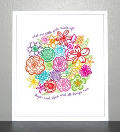 Prints For Kids  What are little girls made by CreativeWildChild, $20.00